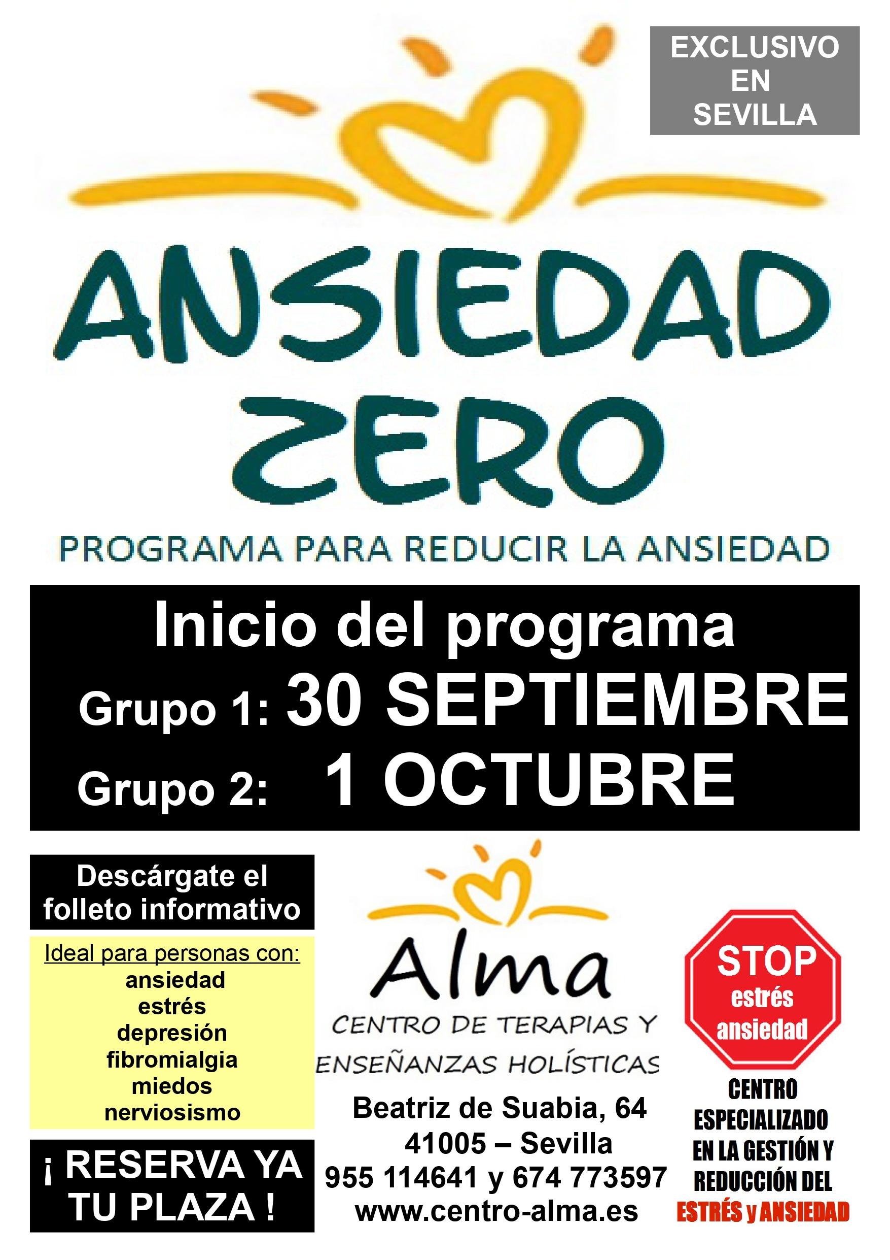 poster ansiedad zero A3 septiembre 2020